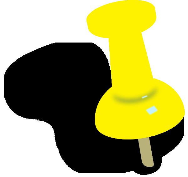 Pushpin desktop backgrounds yellowish. Pin clipart transparent