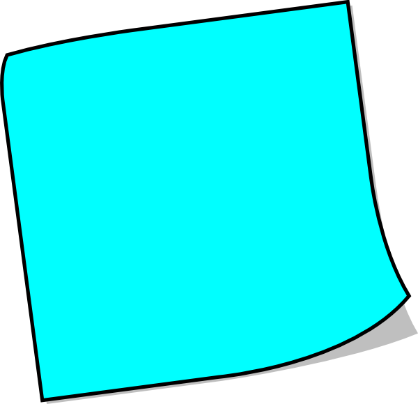 Note clipart pinned note. Images of blank blue