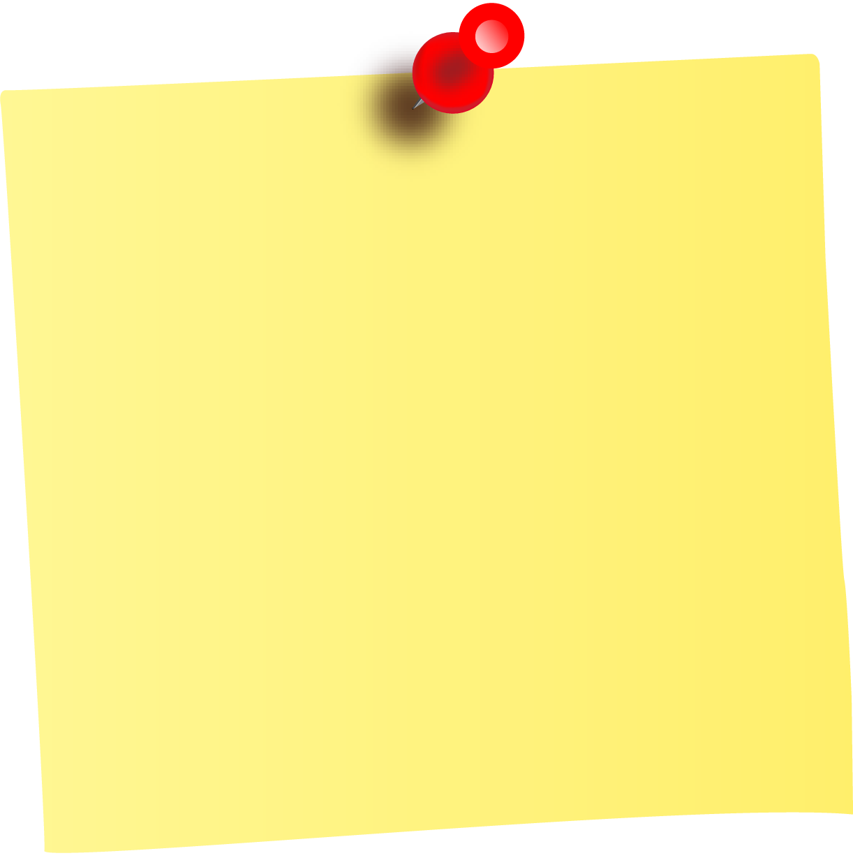 Note clipart pinned note. Yellow sticky notes png