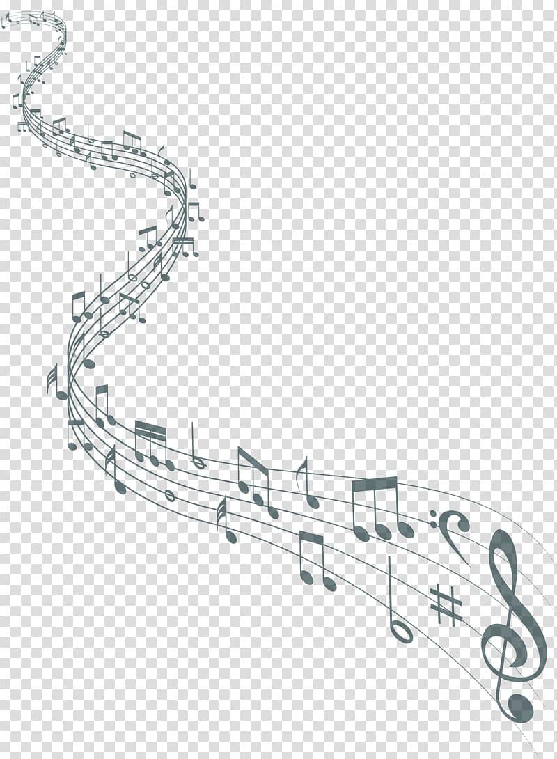 Music musical staff flat. Note clipart sheet