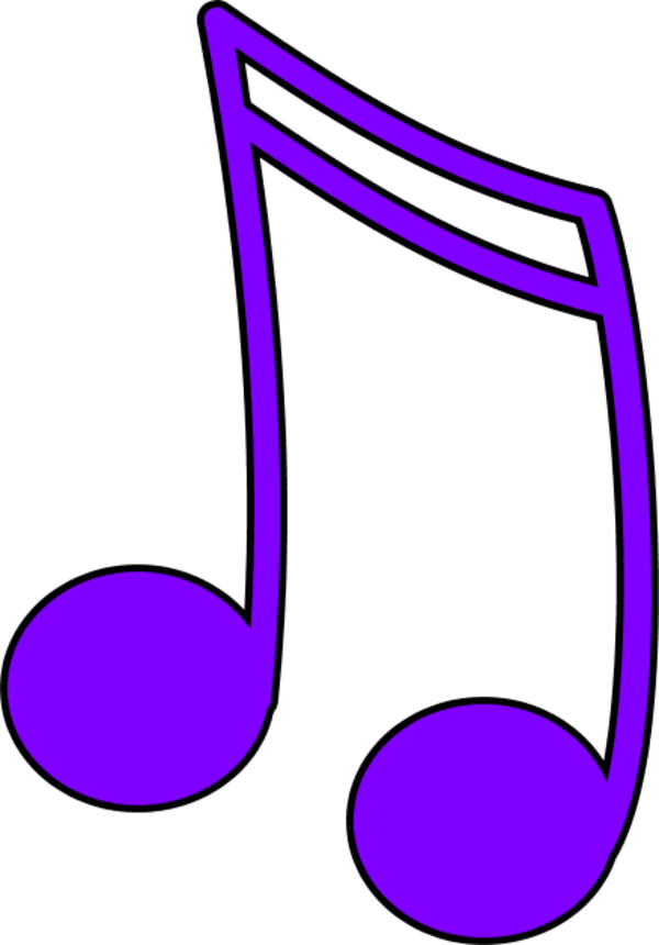 Best photos of music. Notes clipart purple
