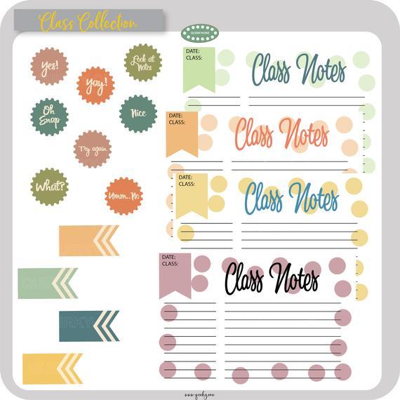 Note clipart study notes. Digital download class teacher