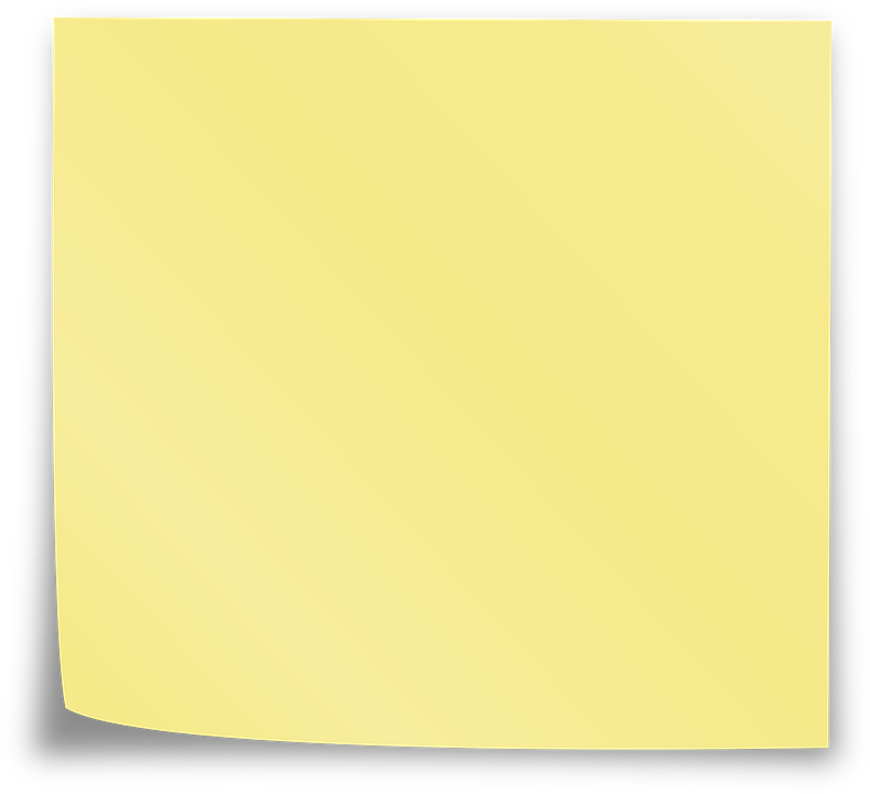Yellow sticky notes png. Square clipart yello