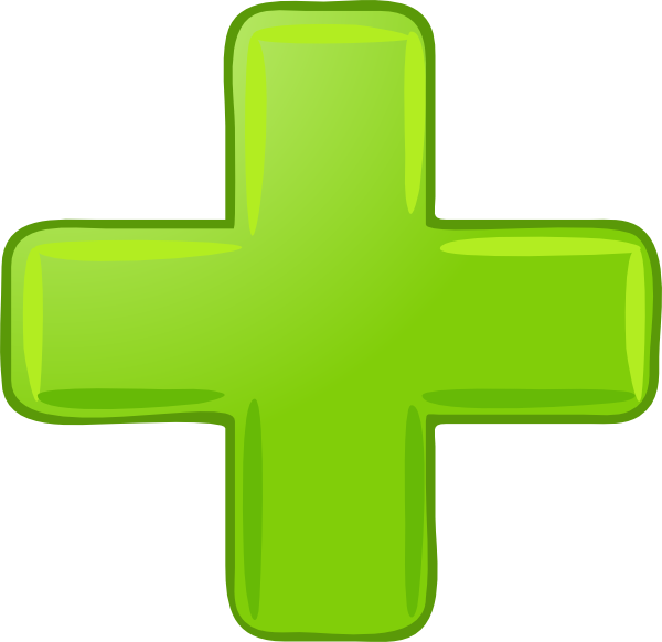 Green plus sign clip. Note clipart tiny