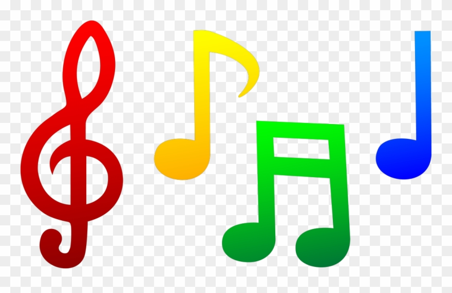 Note clipart tiny. Band notes cliparts colorful