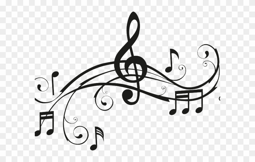 Musical notes music black. Note clipart tiny