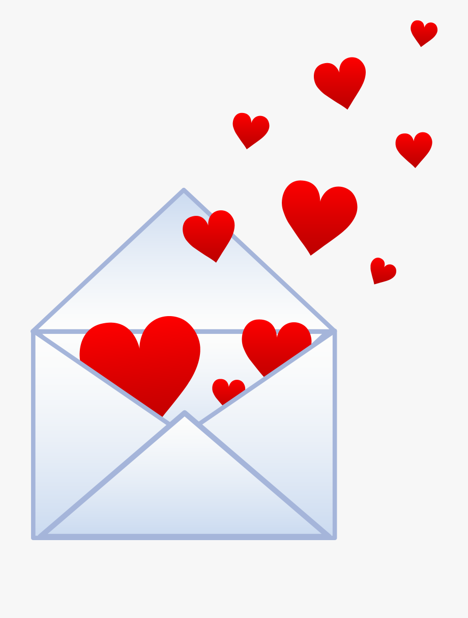 Valentine clipart note. Message love free