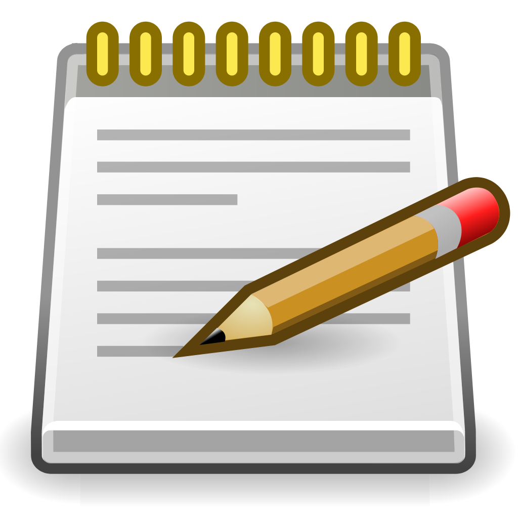 notepad clipart note pad