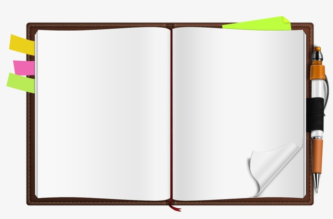 Book png and psd. Notebook clipart