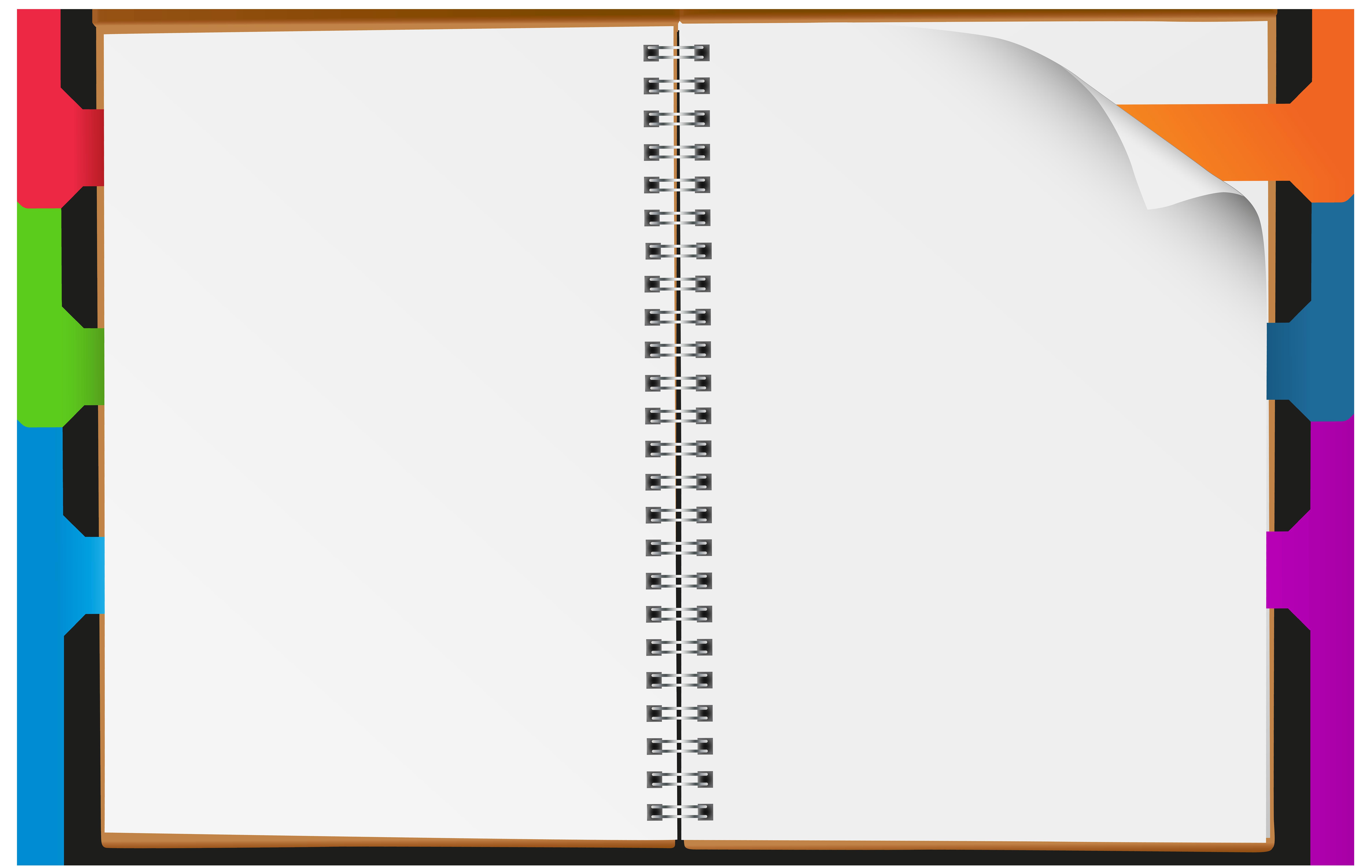 Notebook clipart. Open png clip art