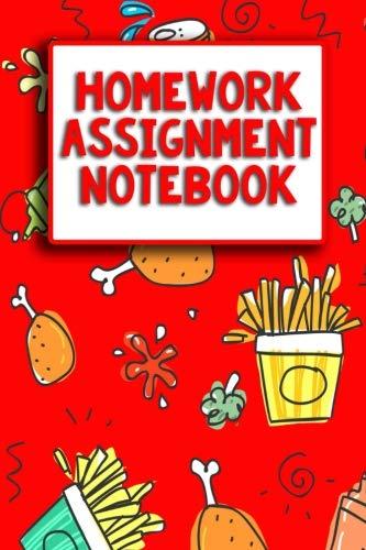 Notebook clipart assignment notebook. Junk food themed homework
