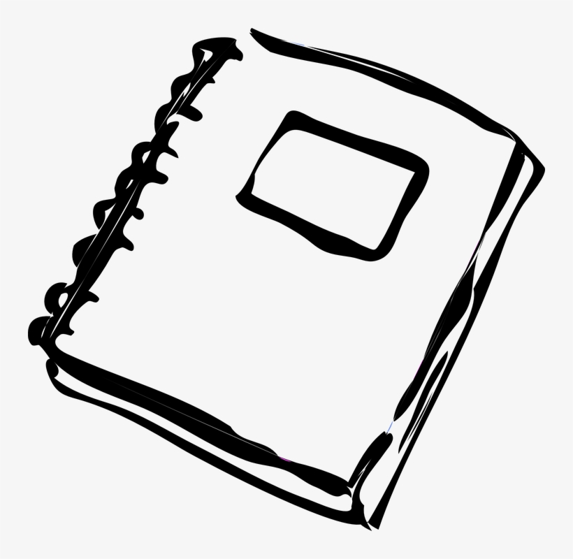 Spiral homework clip art. Notebook clipart black and white