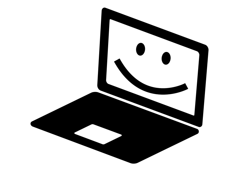 Notebook clipart black and white. Smiling medium image png