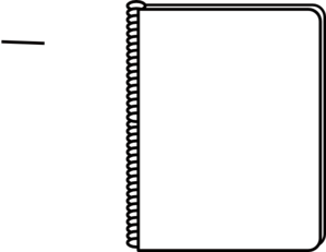 Notebook clipart black and white. Panda free