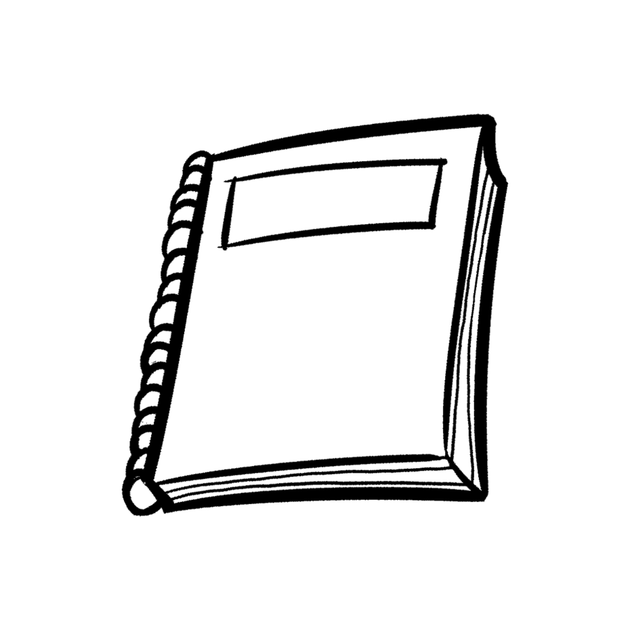 Notebook clipart black and white. Line background