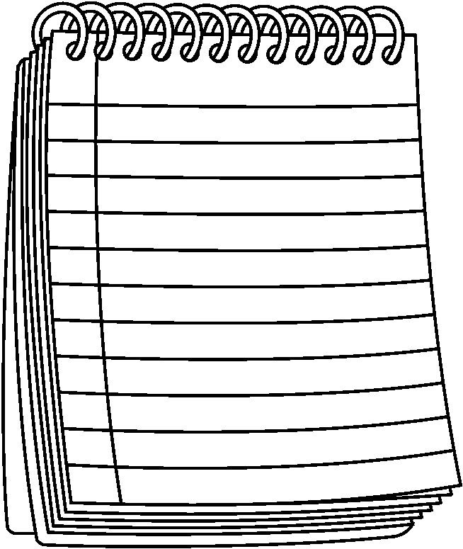 Letters example regarding . Notebook clipart black and white