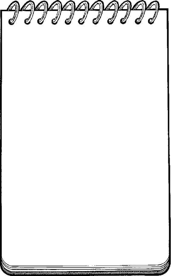 notepad clipart spring