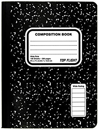 Top flight sewn marble. Notebook clipart composition notebook