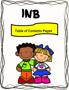 Interactive notebook pages . Organized clipart content page