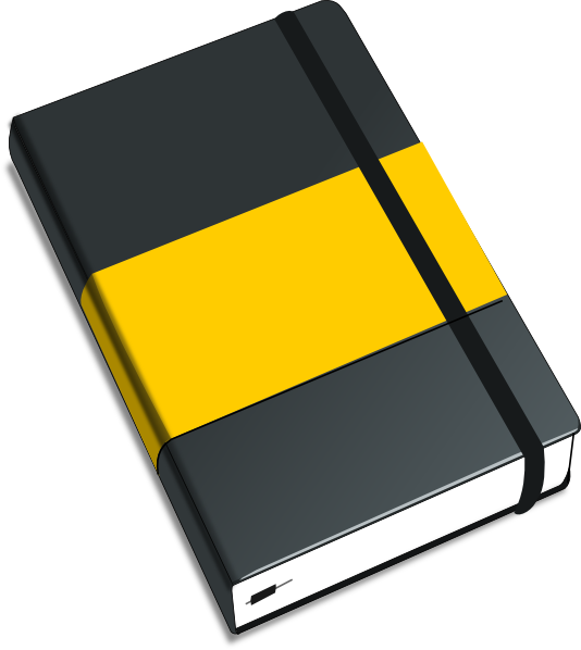 Open clip art transprent. Notebook clipart diary