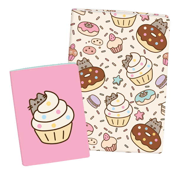Notebook clipart exercise book. Pusheen a and set