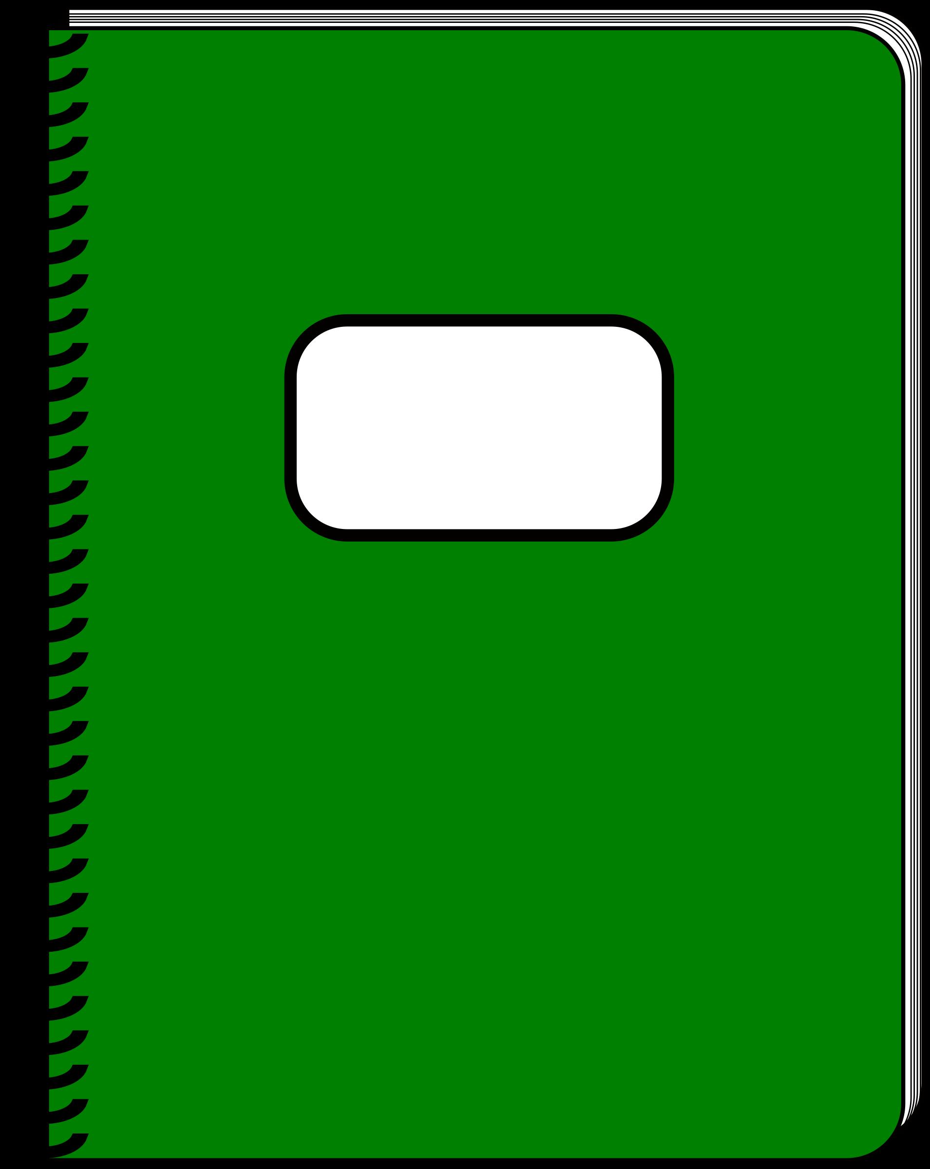 Notebook clipart green notebook.