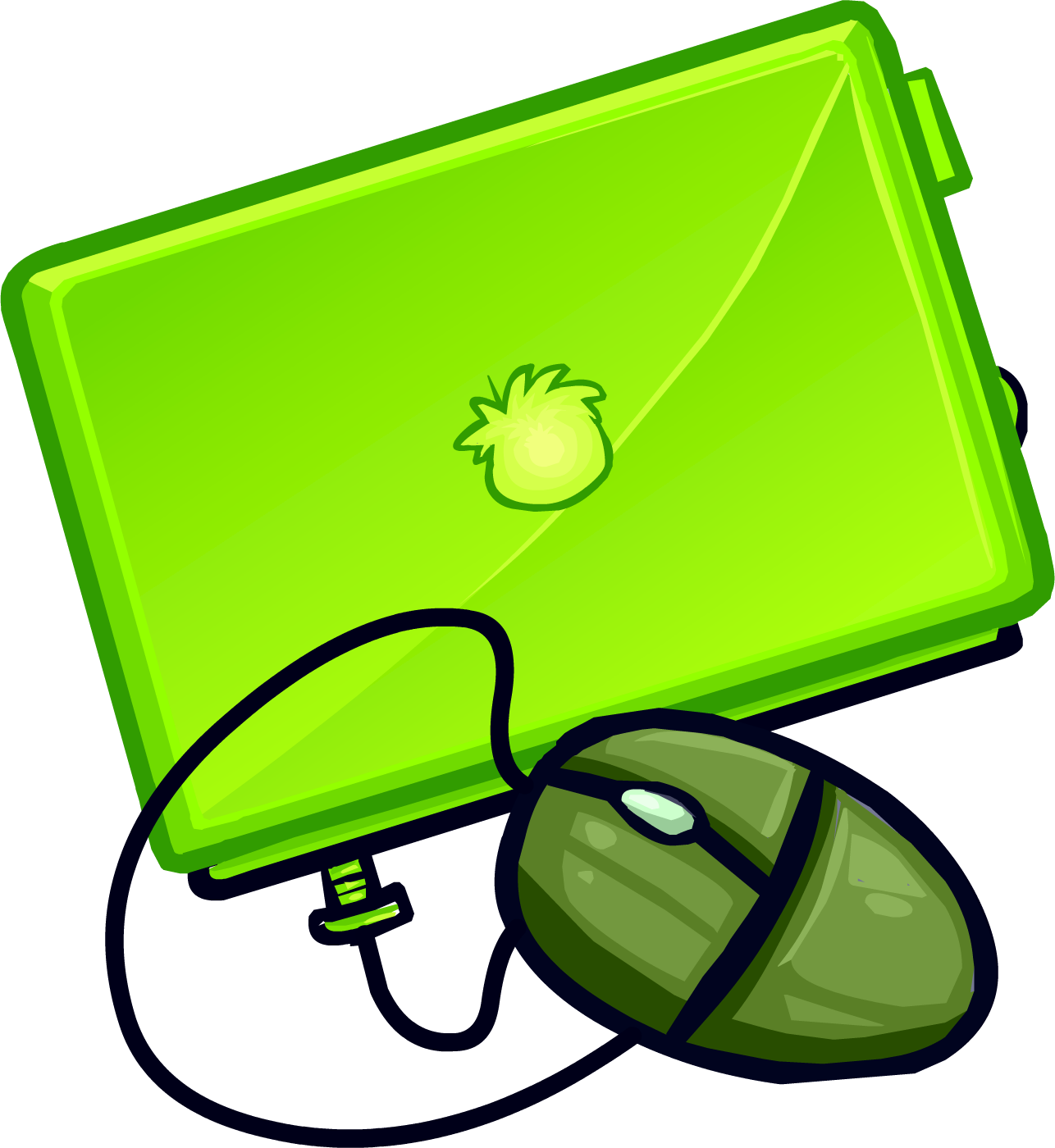 Notebook clipart green notebook. Lime laptop club penguin