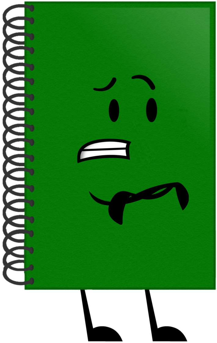 Object lockdown fan art. Notebook clipart green notebook