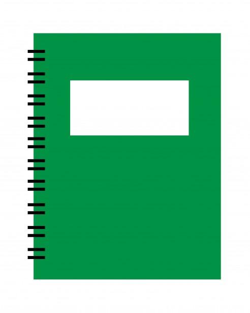 Spiral free stock photo. Notebook clipart green notebook