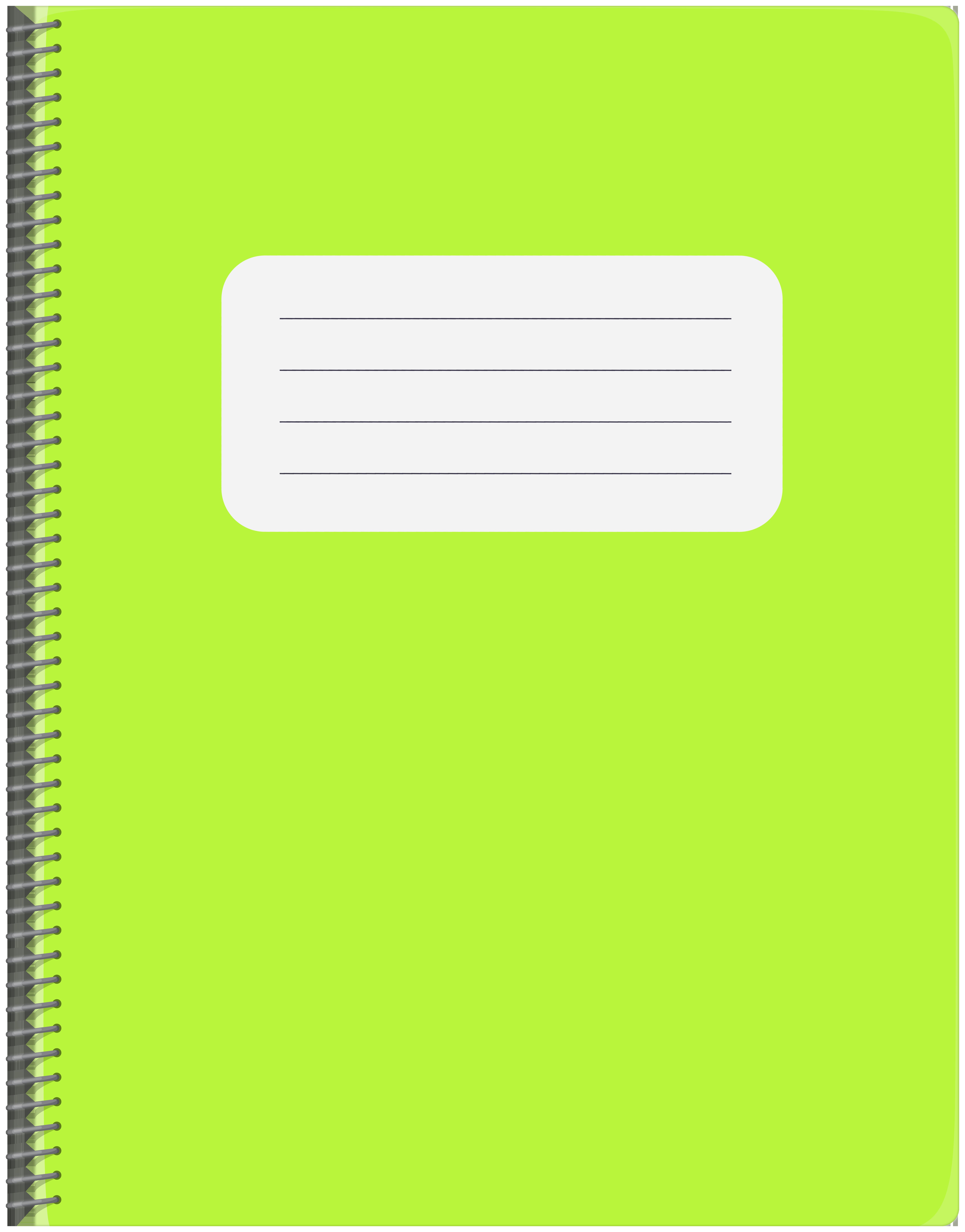 Spiral png clip art. Notebook clipart green notebook