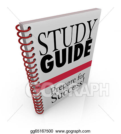 Study clipart study guide. Stock illustration book cover
