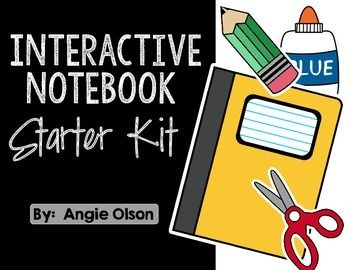 Starter kit freebie for. Notebook clipart interactive notebook
