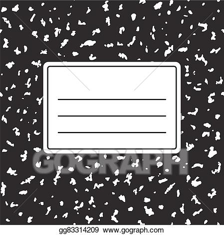 Vector template . Notebook clipart notebook cover