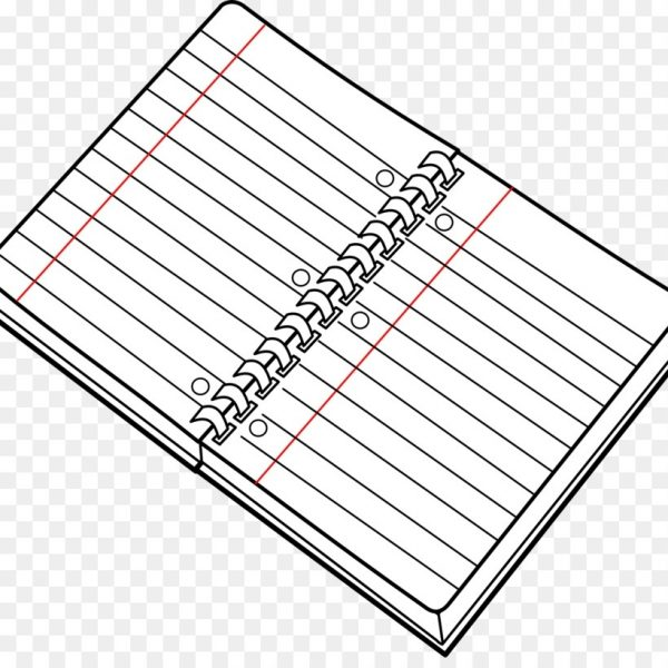 Notebook clipart outline. Paper black and white