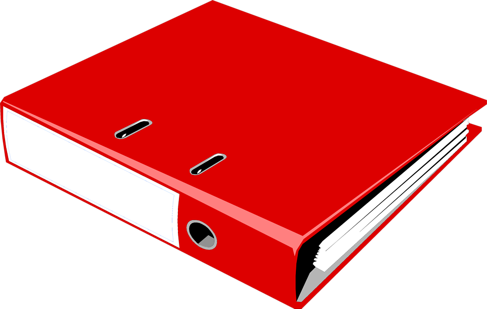 collection of red. Organized clipart notebook binder
