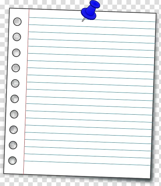 Ruled paper loose leaf. Notebook clipart small notebook