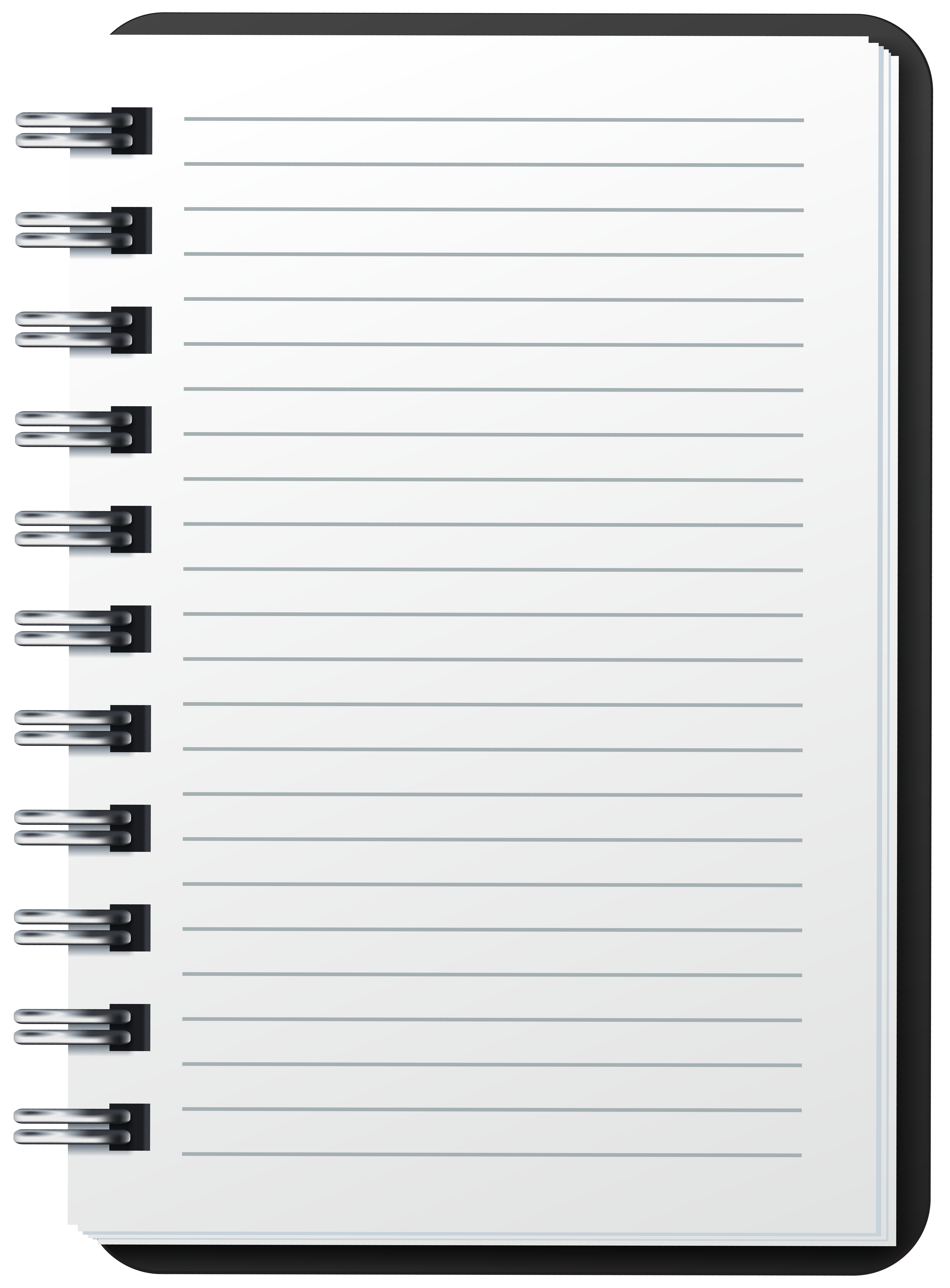 Notebook clipart spiral notebook. Png image gallery yopriceville