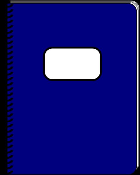 Clip art at clker. Notebook clipart spiral notebook