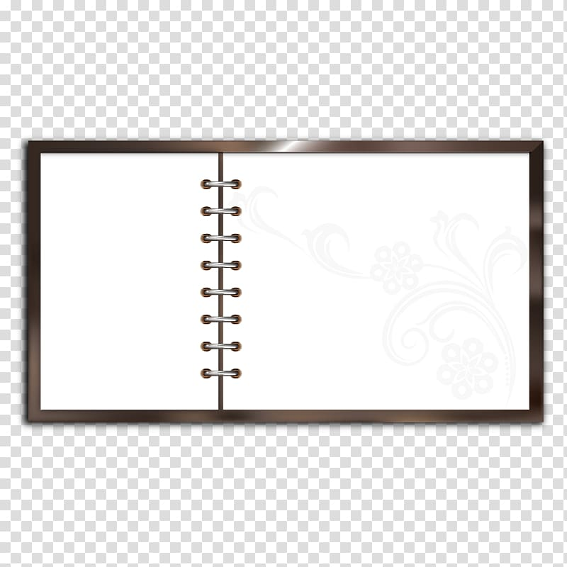 White notebook illustration area. Notepad clipart spring