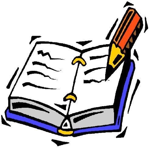 X free clip art. Writer clipart writer's notebook