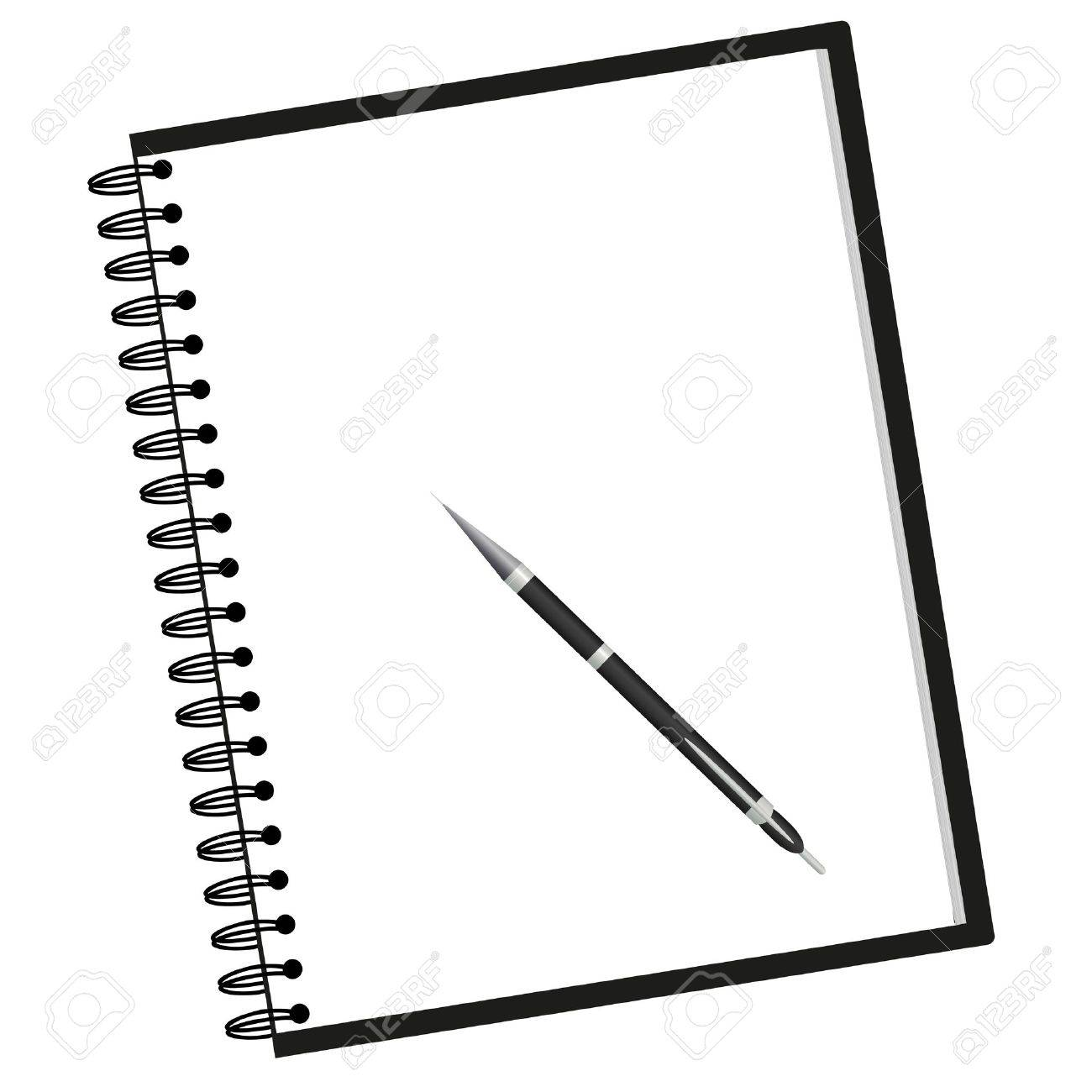 Notepad clipart black and white. Notebook free download best