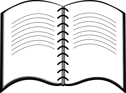 Free download clip art. Notepad clipart black and white
