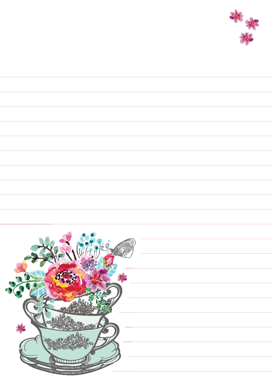 Flowers mixed design padtastic. Notepad clipart blank notepad