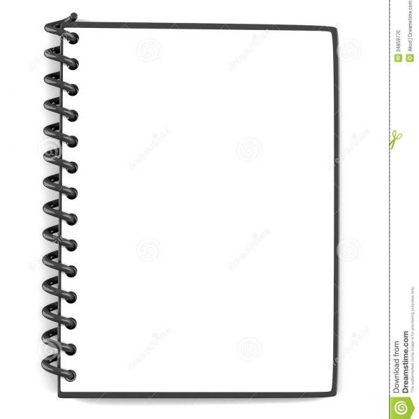 Notepad clipart blank notepad. Stock illustration of notepaper