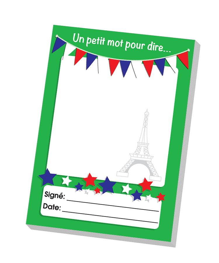 French . Notepad clipart blank sticker