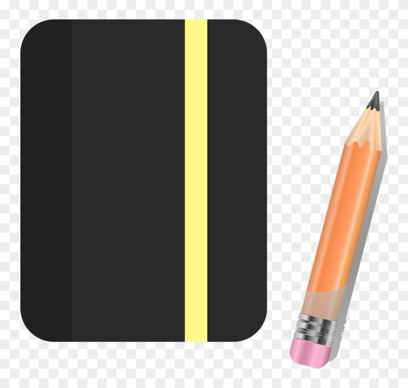 Notebook pencil sketchbook paper. Notepad clipart cuaderno