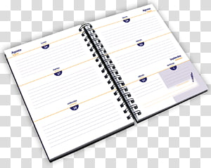 Diary notebook paper agenda. Notepad clipart cuaderno