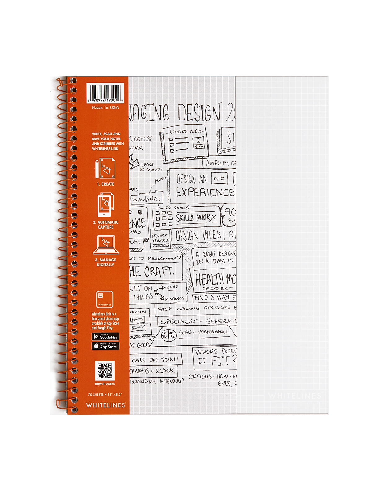 Notepad clipart english notebook. Products whitelines wirebound notebooks