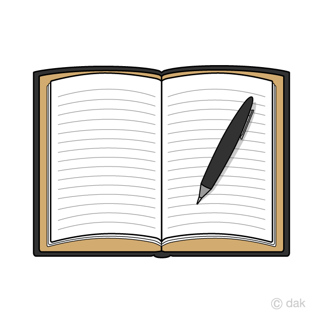 Free picture illustoon . Notepad clipart english notebook
