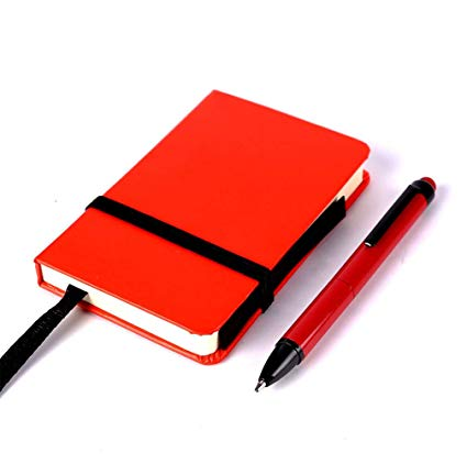 Notepad clipart journal pen. Small pocket notebook mini
